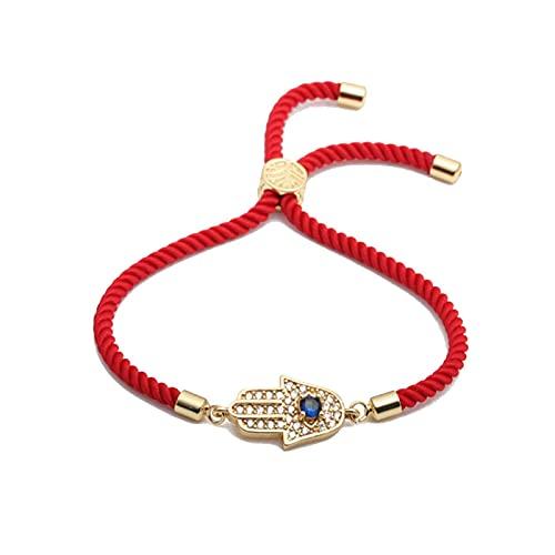 Mujeres Lucky Red String Line Evil Eye Charms Para Pulseras Pulsera De La Amistad De Hilo Rojo Trenzado Hecha A Mano Para Mujeres Niñas 19Cm