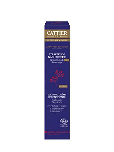 Cattier Straffende Nachtcreme für reife Haut mit grüner Heilerde, Naturkosmetik, 50 ml