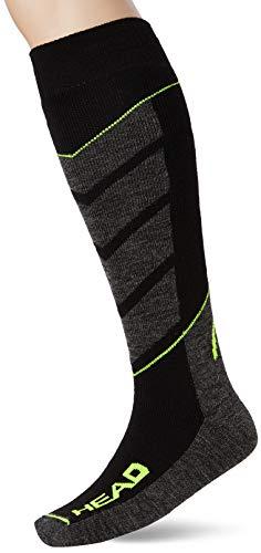 HEAD Ski V-Shape KNEEHIGH 2P Chaussettes de Sport, Jaune (Neon Yellow 817), 43/46 (Taille Fabricant:043) (Lot de 2) Homme