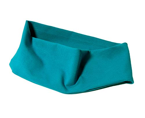 beckys-welt: Baumwoll Haarband in Uni-Farben, hochwertig mit 2 Lagen Stoff genäht (Petrol)