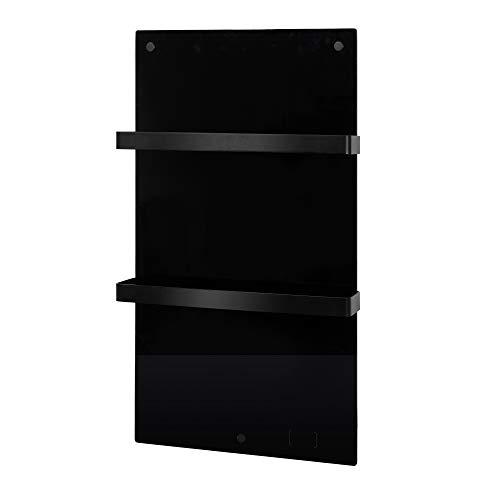 Eurom Sani Comfort - Radiador eléctrico para baño (cristal), color negro