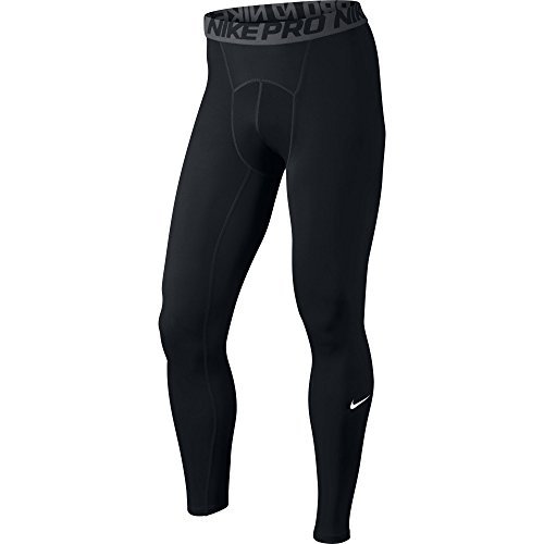 NIKE Men's Pro Tights, Black/Dark Grey/White, Medium