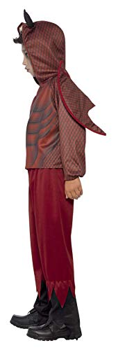 SMIFFYS Costume Deluxe Diavolo, comprende Top, Pantaloni e Ali, Stampa a caldo