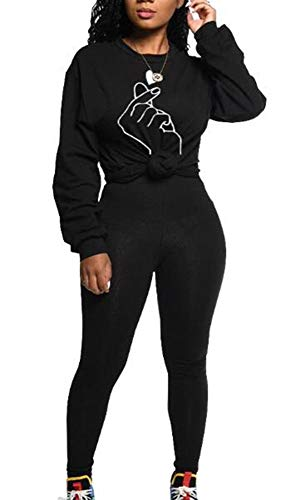 Hellomiko Ensemble Complet de survêtement pour Femme Ensembles imprimés Jogging Sportwear Loungewear Ensemble Leisure Suit