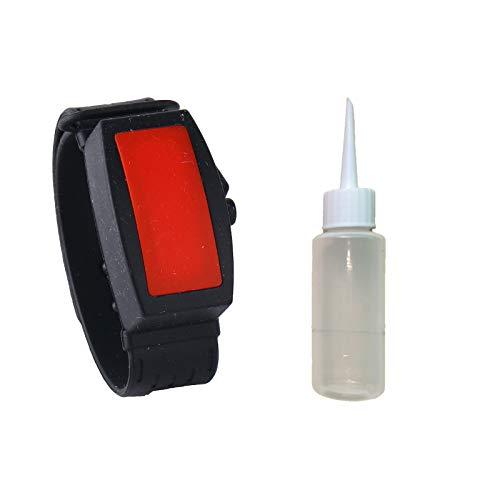MARIJEE Dispensador de líquido de jabón de mano con botella de apretón, desinfectante de manos dispensador de pulsera para viajes en casa, pulsera portátil dispensador de mano (A)