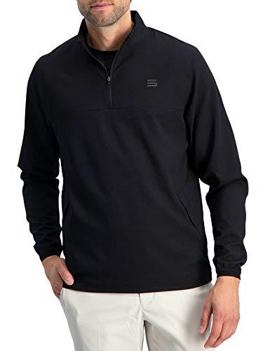 Mens Windbreaker Jackets - Half Zip Golf Pullover Wind...