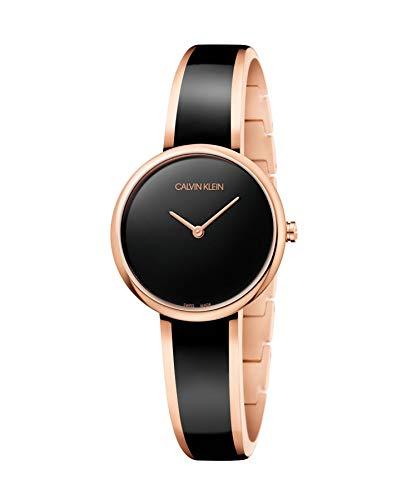 Calvin Klein dames analoog kwarts horloge met roestvrij stalen armband K4E2N611