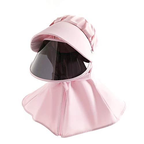 Parent-Child Sommer Anti-Spucken Gesichtsschutz UV-Schutz Halstuch Sonnenschutz Schal Atmungsaktiv Bandana Anti Splash Gesichtsschutz Sonnenhut Kindergröße Pink-Kind