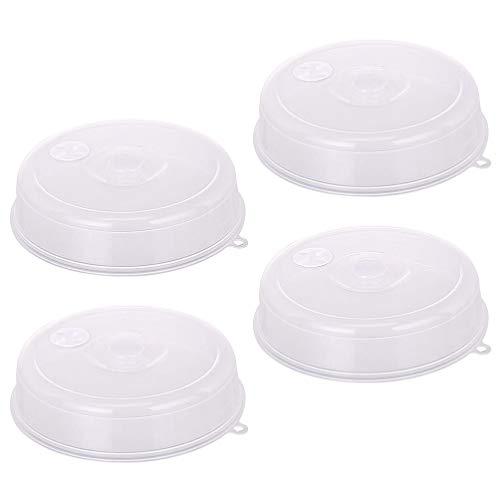 Cabilock 4 Piezas Cubierta de Placa de Microondas Horno de Microondas Protector de Cubierta de Salpicaduras Tapa de Placa Antisalpicaduras Tapas de Mantenimiento Fresco Cubierta de