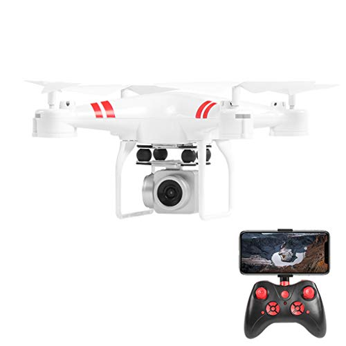 ToDIDAF RC Drone Quadcopter Wide Angle Lens 4K HD Camera WiFi FPV 1800Mah, Anti-Shake, Real Time Transmission, Gift for Kid Photographer Sport Lover, 30 x 30 x 20cm (White)