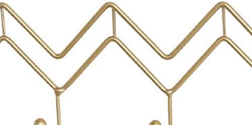Noete Appendiabiti a Parete Semplice Nero Ganci In Metallo Ondulato Casa Dietro La Porta Abiti Da Parete Cappello Sciarpa Ganci Di Stoccaggio A Parete per Cucina Bagno Porta Soffitto 36*12*4CM