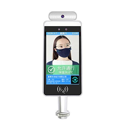 ZXCVBNAS 8 Zoll AI Terminal Zugangskontrollgerät Kamerasystem Temperaturmessung Gesichtserkennung Anwesenheitsmaschine Lochkartenmaschine Intelligent Biometrischer