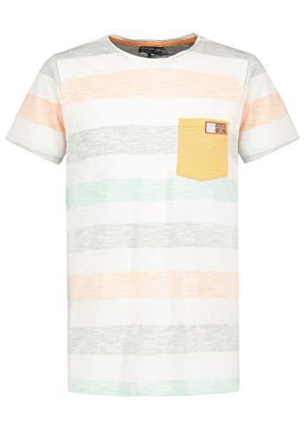 Eight2Nine Herren T-Shirt mit Streifen-Print und Brusttasche orange L