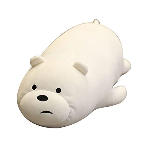 WWWL Peluche, Dibujos Animados Lindos Osos mentición Panda Peluche Peluche Suave Relleno Kawaii Oso Polar muñecas Almohada cojín para los niños Niños Niñas Regalos (Color : Polar Bear, Size : 48cm)
