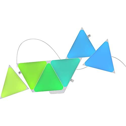 Nanoleaf Shapes Triangles Smarter Kit com 7 painéis de luz triangulares multicoloridos, 80 lúmens