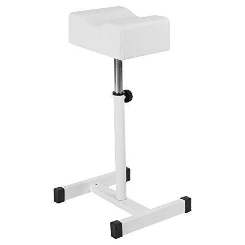 Hocker Stuhl mit Fußstütze, verstellbare Fußpflege Pediküre Nagelhocker, Pediküre Maniküre Techniker Nagel Fußstütze Salon Spa Ausrüstung (weiß)