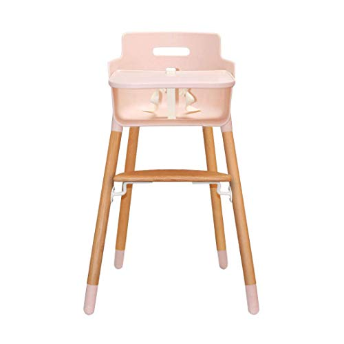 Asunflower Wooden High Chair Modern Baby Highchairs Solution with Tray as Dining Chair for Baby Girls, Table Height