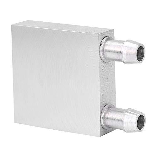 Bewinner Wasserkühlungsblock Aluminium für Flüssigwasserkühler Kühlkörper Kühlkörper Silber CPU Kühler Wasserkühler Kühlkörper Kühlkörper Kühlkörper für PC Laptop
