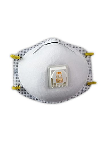 3M 50051131527503 8211 N95 Particulate Respirators (Pack of 10)