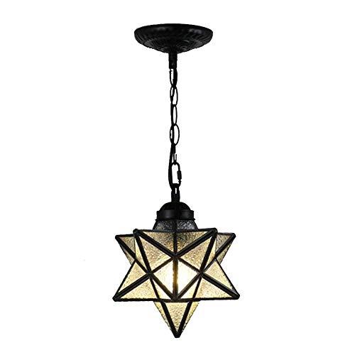 N / A Herrnhuter Stern Moderne Kronleuchter Penta Pendent Beleuchtung mit Glasschirm Hängeleuchte Deckenleuchte für Porch Foyer Flur-Diamant-Glas 20 cm (8-Zoll)