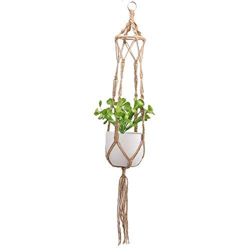 Cxssxling Makramee Blumenampel Baumwollseil Hängeampel, Blumentopf Pflanzen Halter Aufhänger Pflanzenhalter für Innen Außen Decken Balkone, 80CM