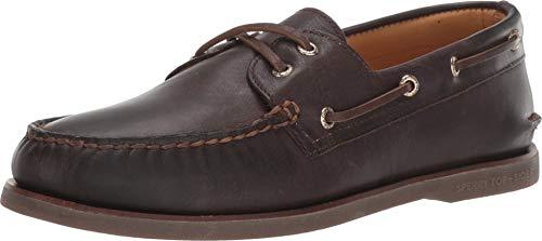 Sperry Men's Gold Cup Authentic Original 2-Eye Boat Shoe, Dark Brown, 8.5