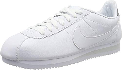 Nike Classic Cortez Leather, Chaussures de Running Homme, Blanc (White/Pure Platinum 101),...