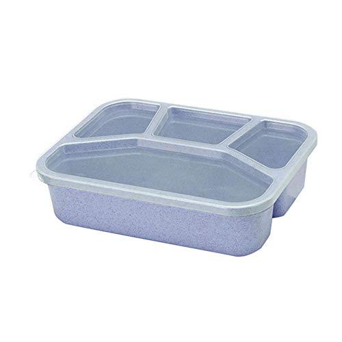 N\C Lunchbox aus Weizenstroh, für die Mikrowelle, für Reisen, Picknick, Lebensmittel, Obst, Aufbewahrungsbox, Lunchbox