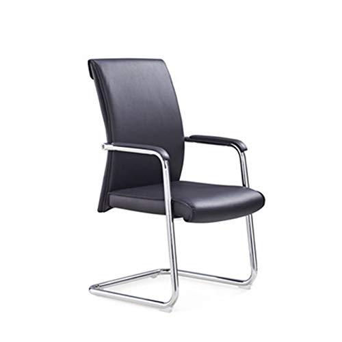 Trainingsstuhl Büro-Training Computer Stuhl Bogen Lederstuhl Rückenlehne Rezeption Stuhl Einfache Hochwertige Business Training Stuhl Tragbarer Trainingsstuhl ( Farbe : Black , Size : 56x60x106cm )