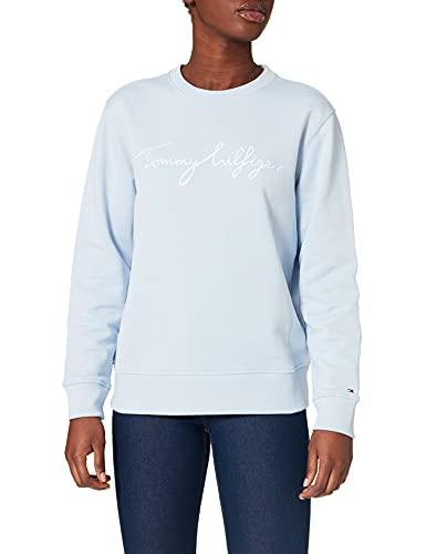 Tommy Hilfiger Regular Graphic C-NK Sweatshirt Sudadera, Blue, SG para Mujer