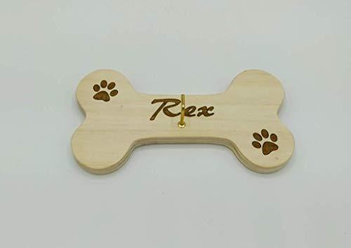OSSO Porta guinzaglio per cane personalizzabile con nome in legno da appendere PORTAGUINZAGLIO