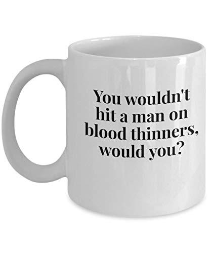 DKISEE Grappige Papa Koffiemok, Bloedverdunners, Genezende Koffiemok, Koffiemok voor Herstellende Papa, Sympathie Koffiemok 15oz Kleur: wit
