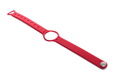 vhbw TPE Ersatz Armband L 23 cm passend für Misfit Shine Fitness Uhr, Smart Watch - rot