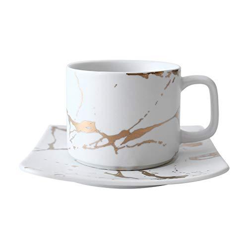 Lam Serie in Marmo Opaco Oro Tazze e piattini Giapponesi in Bianco e Nero Set Tazze Tazze d'Acqua Tazze da caffè