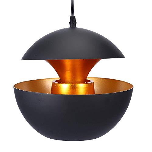 YANGSANJIN Vintage plafondlampen Retro hanglamp schaduw zwart industriële hanglamp kroonluchter voor restaurant Loft keuken koffie lampenkap E27 Base
