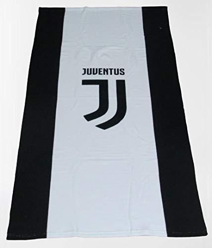 Casanov è Telo Mare Piscina Bagno Ufficiale FC Juventus Nuovo Logo Micro Spugna 100% Cotone IDROFILO Salva-Spazio