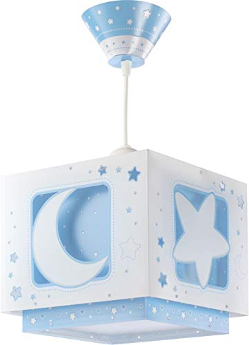 Dalber Lámpara Colgante Moon Light Azul, 60 W