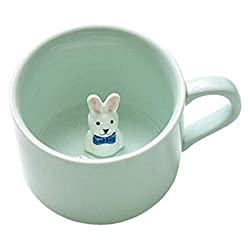 ★High Quality: This Cute Coffee Cup made from the finest quality ceramic, eco friendly, high quality and each mug is handcrafted and goes through a strict selection process to ensure you get best one. ★Safe and Healthy: Mugs are both dishwasher and m...