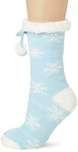 Brave Soul 468SNOW Calcetines de estar por casa, azul, talla única para Mujer