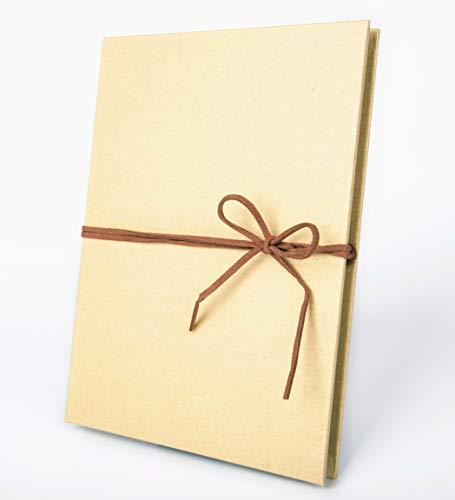 Smiling Art faltbares Fotoalbum 18 Seiten (34 Blatt) zum selbst gestalten/basteln, zum einkleben, DIY Scrapbook, Deckblatt aus Harter Pappe, Schwarze Seiten, mit Zubehör Kit