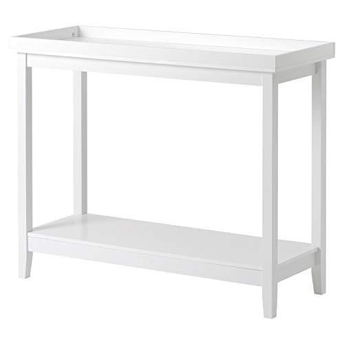 Wealthgirl Mesa de consola lateral de almacenamiento de madera para sala de estar, dormitorio, pasillo, casa