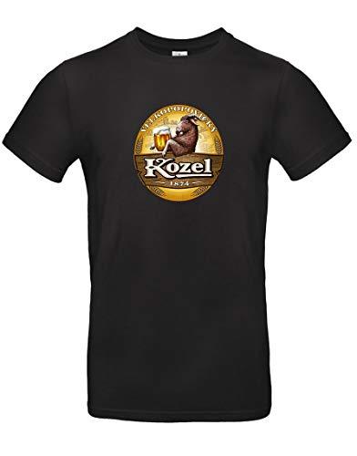 TsForYou T-Shirt Bier Kozel Prag, A0000263, Schwarz, A0000263 Medium