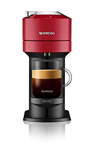 Nespresso VERTUO Next XN9105 Cafetera de cápsulas,máquina de café expreso de Krups,café diferentes tamaños,5 tamaños tazas,tecnología Centrifusion,calentamiento30 segundos, Wifi,Bluetooth,Roja