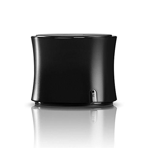 DOCKIN D SOLID Bluetooth Lautsprecher mobil mit Metallgehäuse, Knackigem Bass, FM Radio, NFC, Freisprechfunktion, Schwarz