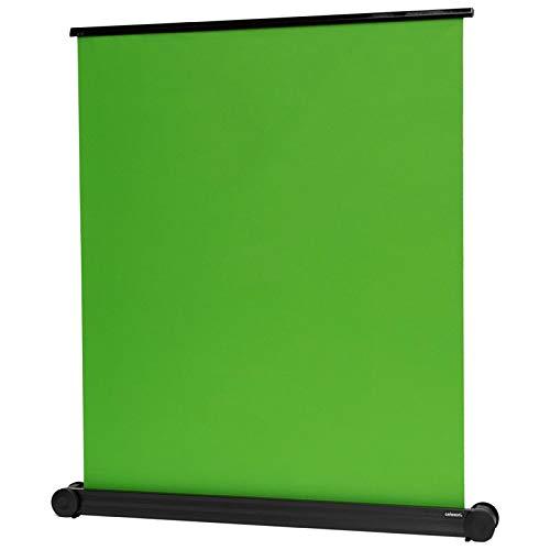 celexon tragbare Mobile Chroma Key Green-Screen Rückwand Hintergrund Leinwand- Broadcast, Videocontent- schneller Aufbau- inkl. Tragegriff- 150x180cm