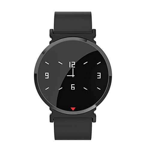 Q8 Smart Watch OLED Farbbildschirm Smart Electronics Smartwatch Mode Fitness Tracker Herzfrequenz Blautooth für Männer Mann Frauen (Schwarz)