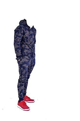 ENFANTS Sports militaire de camouflage Hododied Survetement 2pieces Contraste - Marine - 7-8 ans