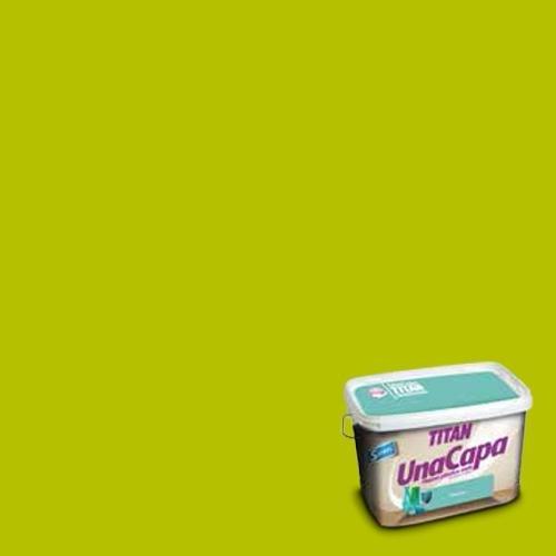 Titan 69635305 - Pintura plástica mate VERDE CLOROFILA Titan UNA CAPA