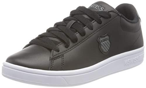 K-Swiss Court Shield, Zapatillas Mujer, Negro/Negro/Blanco, 39.5 EU