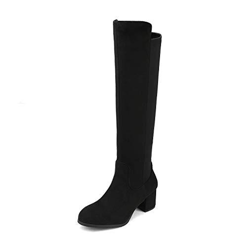 DREAM PAIRS Women's Black Knee High Stretchy Fashion Boots Size 8 M US Jennifer-3